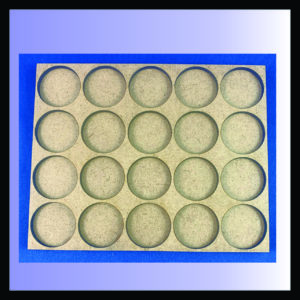 Square movement tray for 25mm rounds with 4 ranks of 5