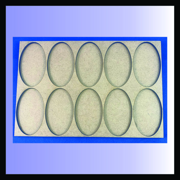 Square movement tray for 60mm x 35mm oval bases, 2 ranks of 5