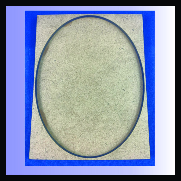 Square movement tray for a single 120mm x 92mm oval base
