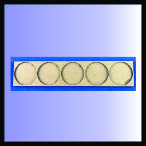 5x1 40mm round movement tray, square