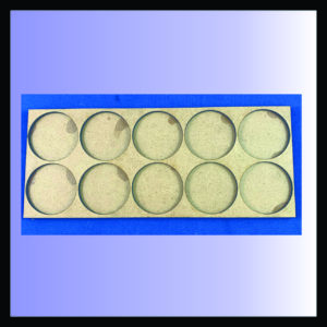 5x2 40mm round movement tray, square
