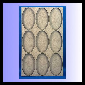 Oval movement tray