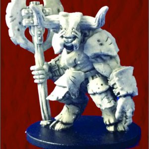 Armored Minotaur with Great Axe