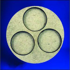 3 25mm round bases (65mm Circle)